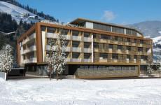 Aussenansicht Hotel Rosengarten in Kirchberg
