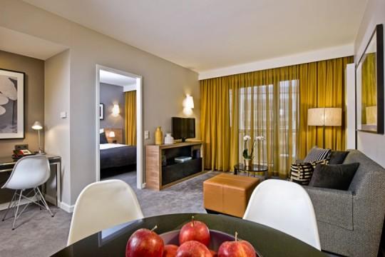 Schlafzimmer im Adina Hotel Hackescher Markt